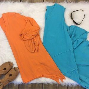 OH MY GAUZE 2 Pc Lot Blouse & Dress Sz 16 Cotton